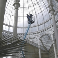 Syon Park Conservatory - Chery Picker & Water Fed Pole (interior)