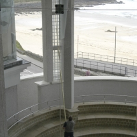 Tate St Ives - Reaching Difficult Interior Windows