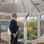 Indoor window cleaning systems