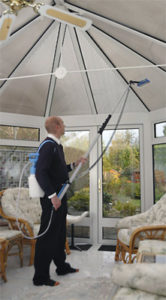 Aquafactors indoor window cleaning system